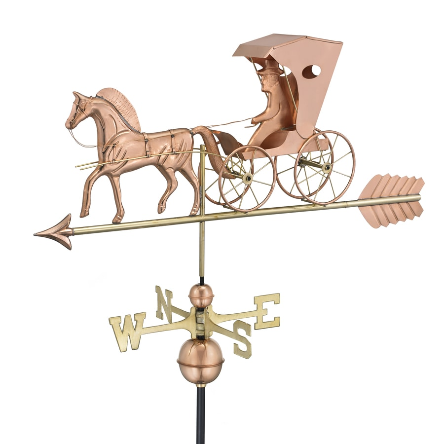 Polished Copper Roof-Mount Country Doctor Weathervane