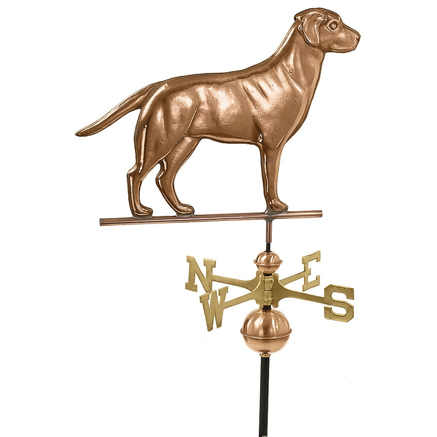 Good Directions Polished Copper Labrador Retriever Weathervane