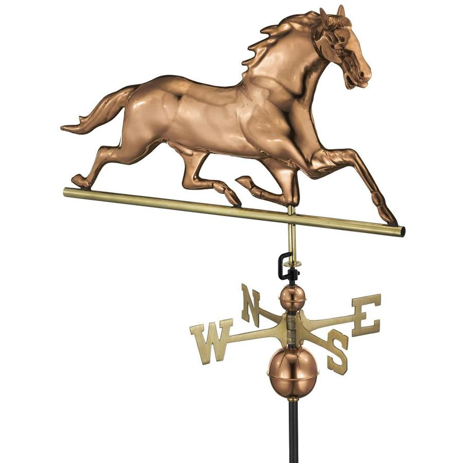 Good Directions Polished Copper Roof-mount Horse Weathervane