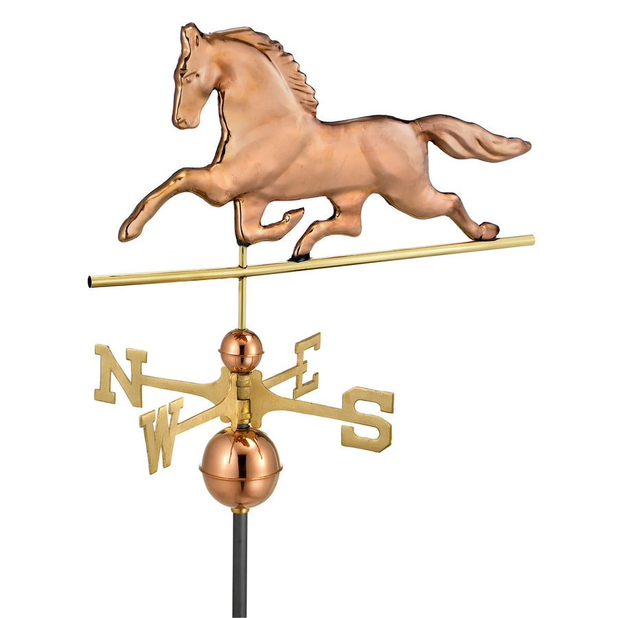Good Directions Polished Copper Patchen Horse Weathervane