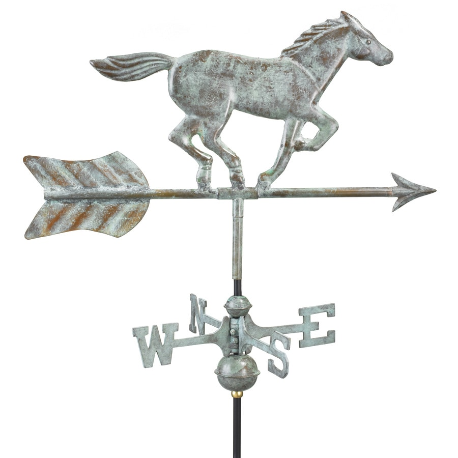 Good Directions Blue Verde Copper Freestanding Horse Weathervane