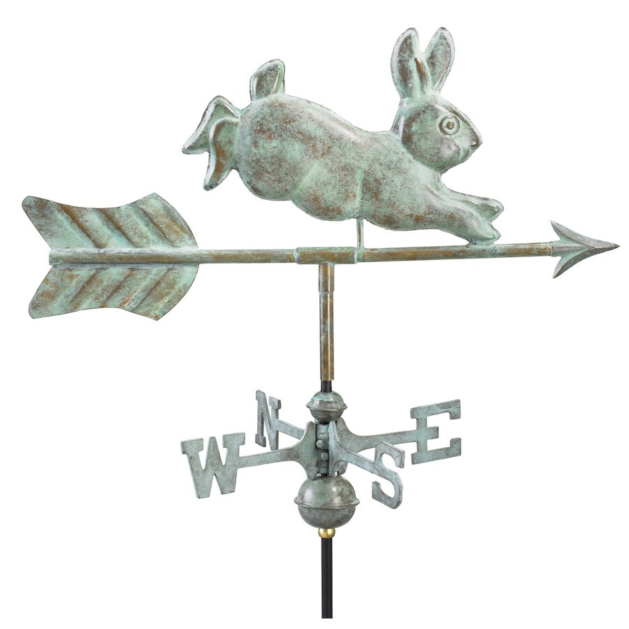 Good Directions Blue Verde Copper Rabbit Weathervane
