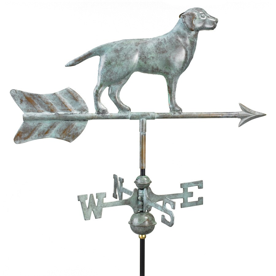 Good Directions Blue Verde Copper Freestanding Labrador Retriever Weathervane