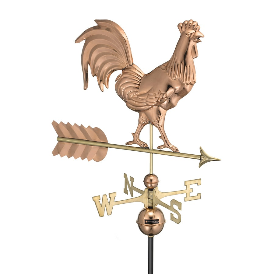 Good Directions Polished Copper Smithsonian Rooster Weathervane