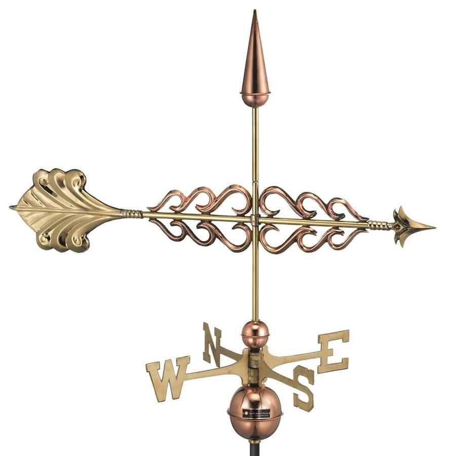 Good Directions Polished Copper Roof-mount Smithsonian Arrow Weathervane