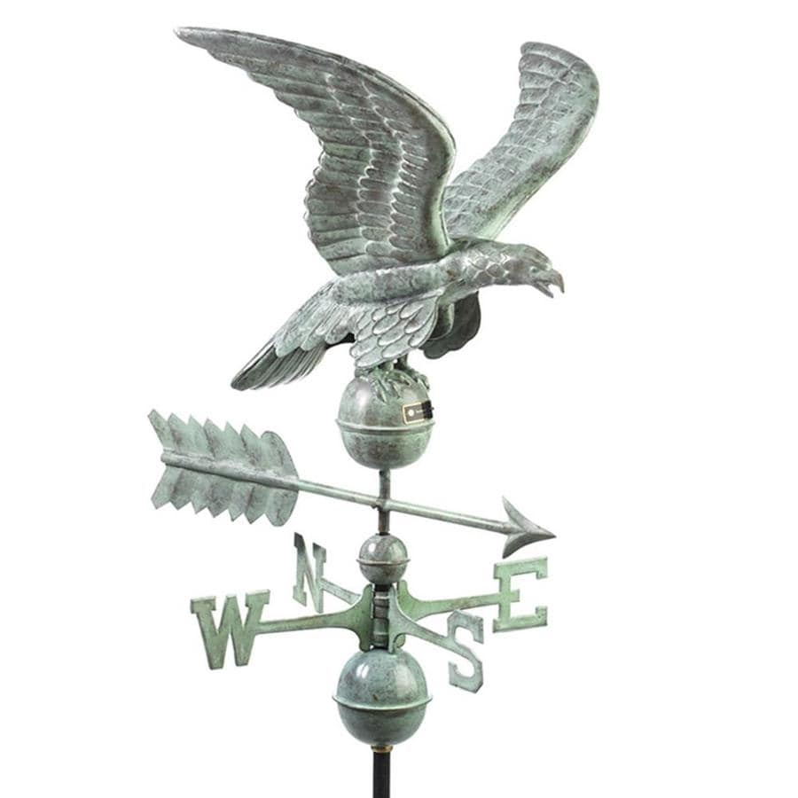 Good Directions Blue Verde Copper Roof-mount Smithsonian Eagle Weathervane
