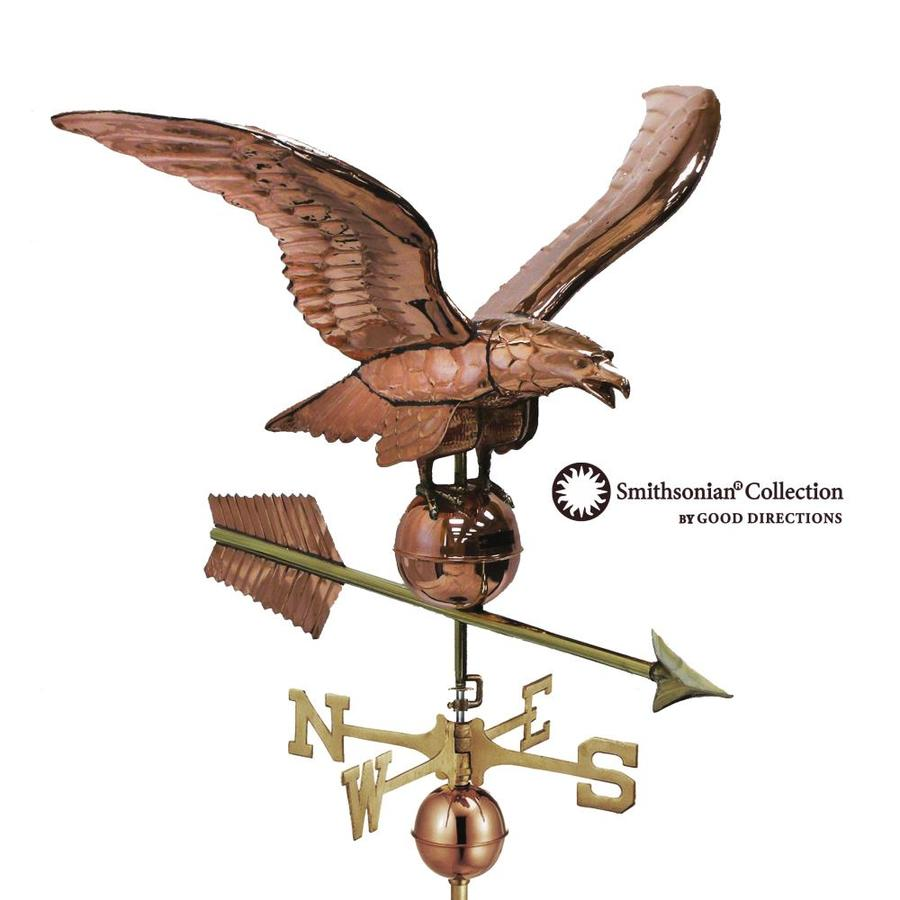 Polished Copper Roof-Mount 34-in Smithsonian Eagle Weathervane
