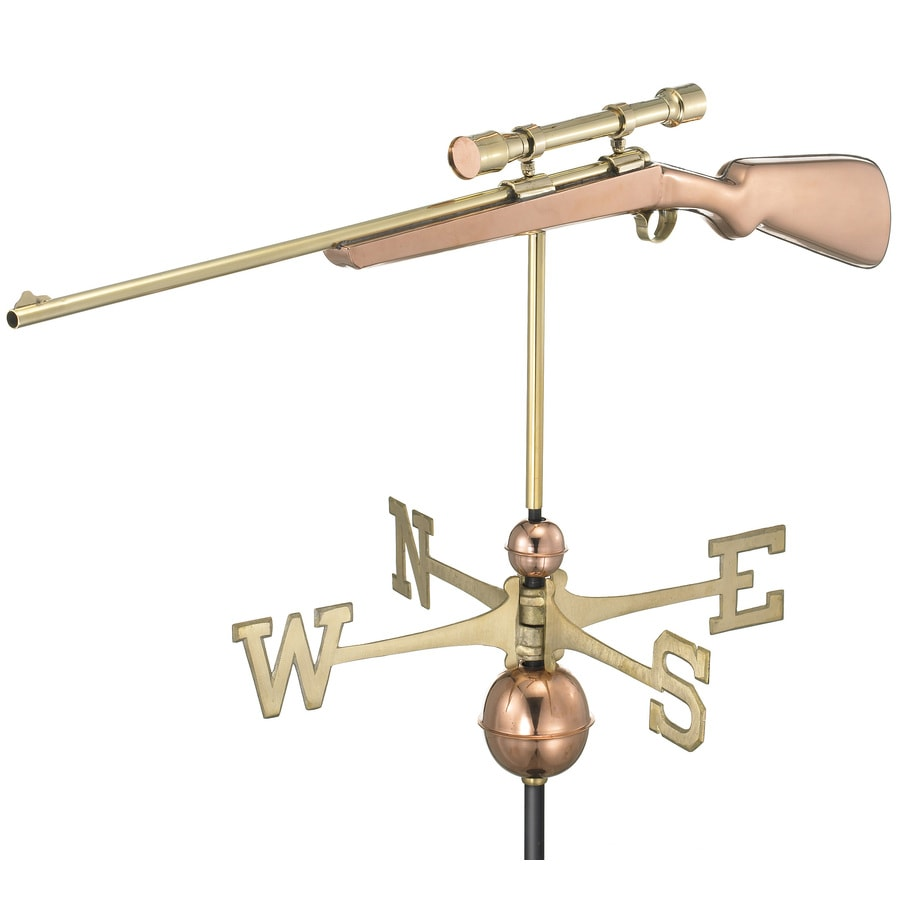 Good Directions Polished Copper Rifle with Scope Weathervane