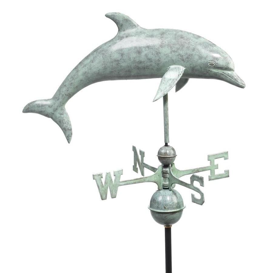 Good Directions Blue Verde Copper Dolphin Weathervane