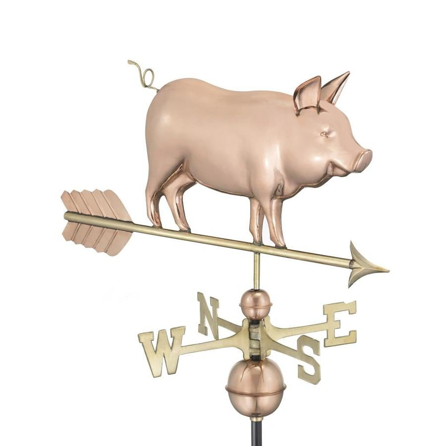 Good Directions Copper Roof-Mount Pig Weathervane