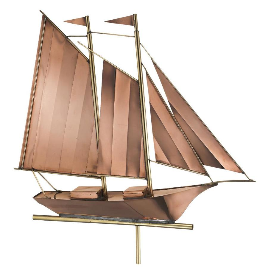 Good Directions Polished Copper Schooner Weathervane
