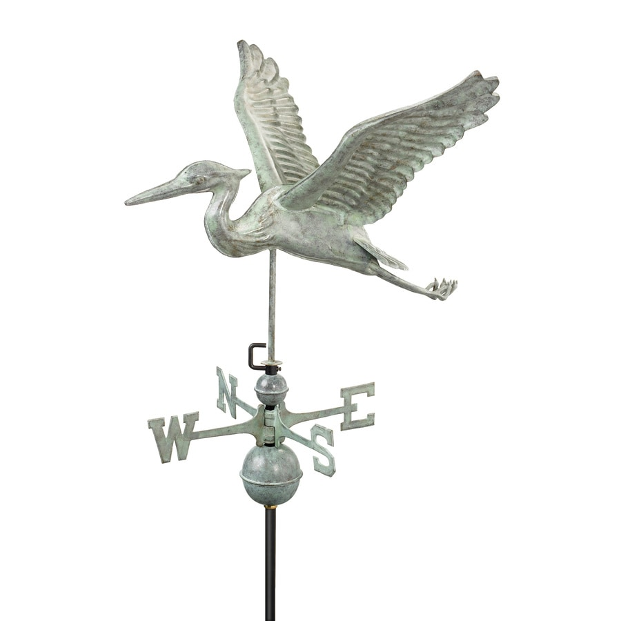 Good Directions Blue Verde Copper Blue Heron Weathervane