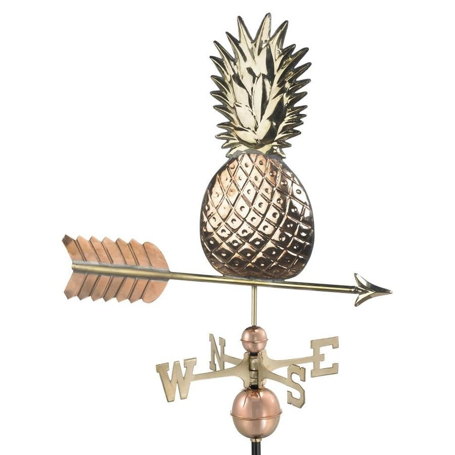Good Directions Polished Copper Roof-mount Pineapple Weathervane