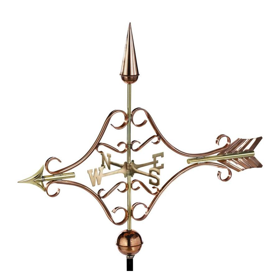 Good Directions Polished Copper Roof-mount Victorian Arrow Weathervane