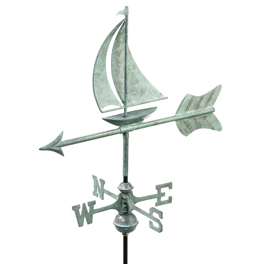 Good Directions Blue Verde Copper Sailboat Weathervane