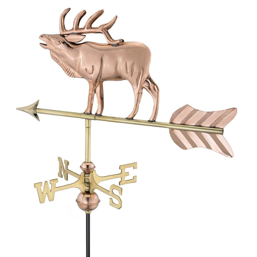 Good Directions Polished Copper Elk Weathervane