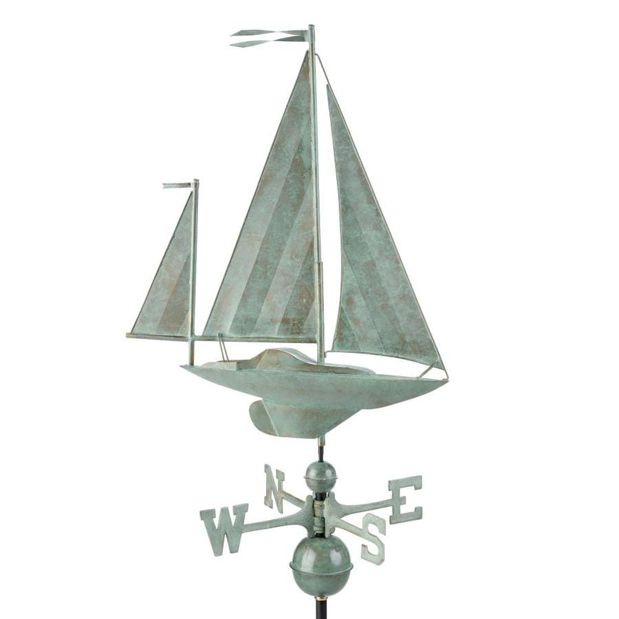 Good Directions Blue Verde Copper Roof-mount Yawl Weathervane