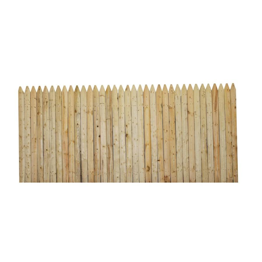 Boundary 4 Ft X 8 Ft Spruce Stockade Wood Fence Privacy