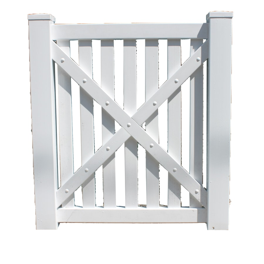 Shop boundary ft white picket walk vinyl fence