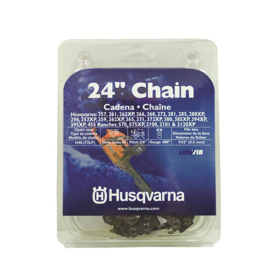 Shop chainsaw chains at lowes husqvarna 24 in replacement saw chain greentooth