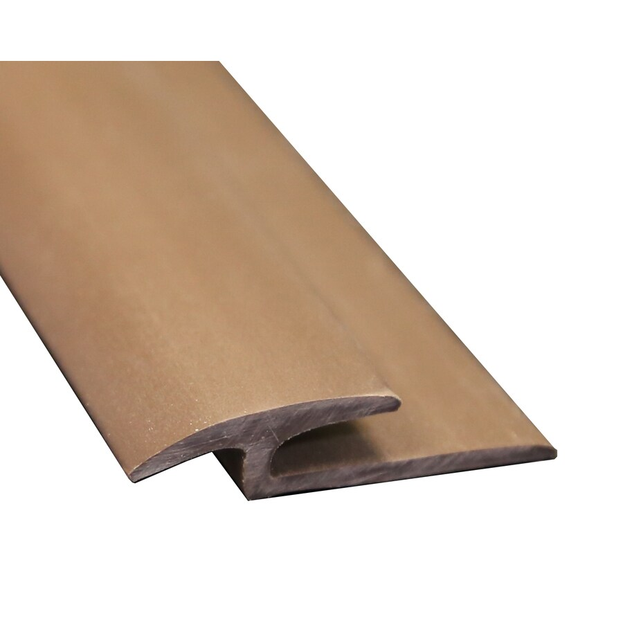 Wellmade 1.375-in x 72-in Brown T-Moulding Floor Moulding