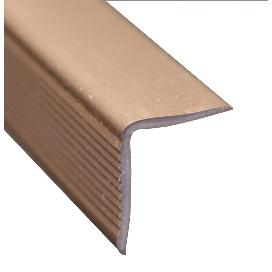 Wellmade 1.375-in x 72-in Brown Stair Nose Floor Moulding