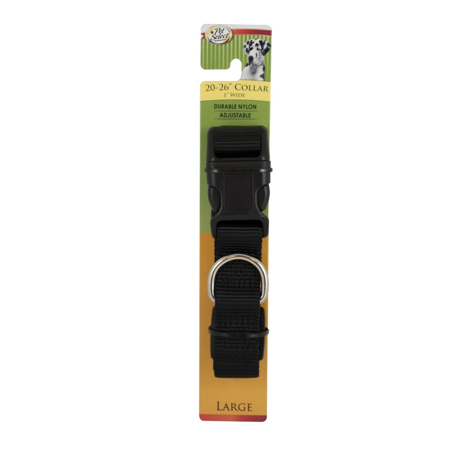 Four Paws Black Nylon Reflective Dog Collar