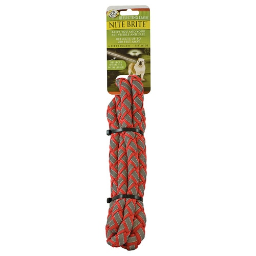 Pet Select Red Reflective Nylon Dog Leash At Lowes Com