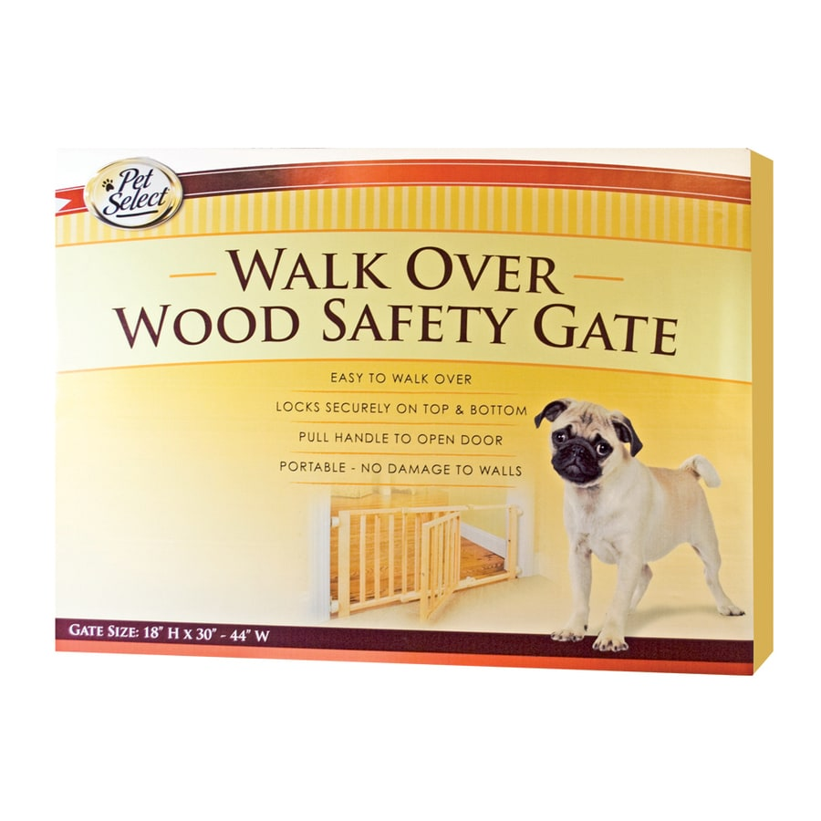 Four Paws 30-in W Tension-Mount Wood Expandable Pet Gate