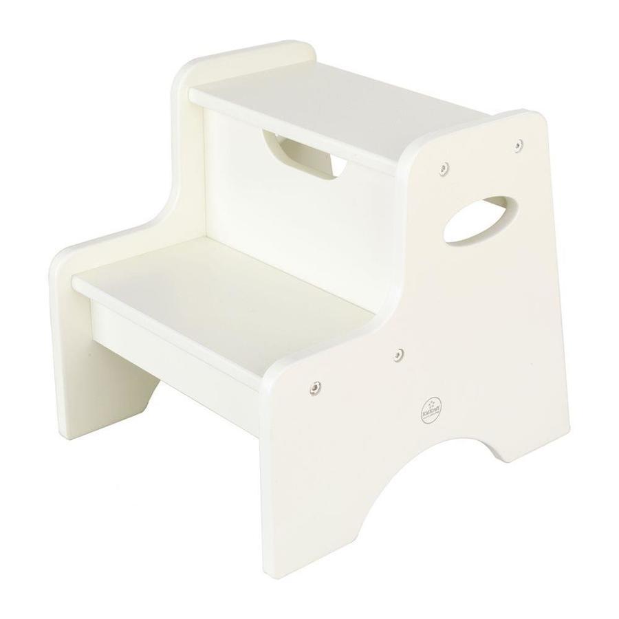 Kidkraft 2 Step 90 Lbs Capacity White Wood Step Stool At