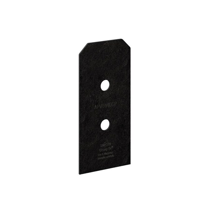 Simpson Strong Tie 4 In X 4 In Triple Zinc Wood To Concrete Retrofit Post Base Hardware 2 Pack In The Base Cap Hardware Department At Lowes Com