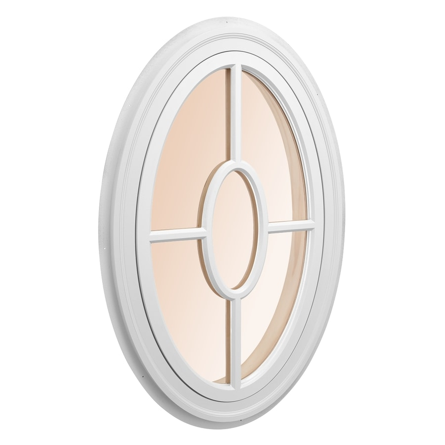 Awsco Oval Replacement White Exterior Window Rough Opening 34 In X 54 In Actual 36 In X 56