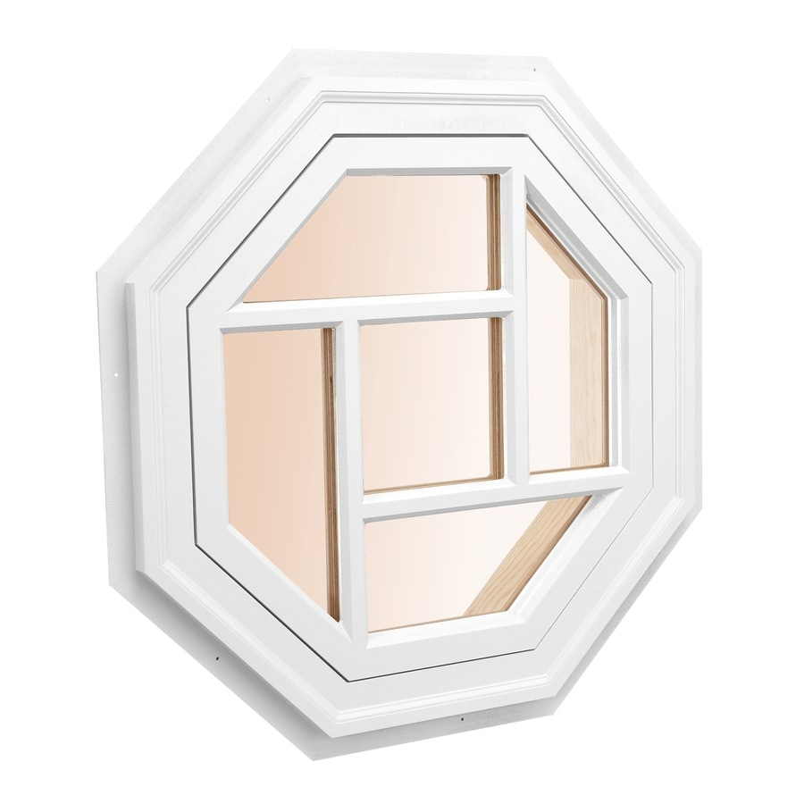 Awsco Octagon Replacement White Exterior Window Rough Opening 34 In X 34 In Actual 36 In X