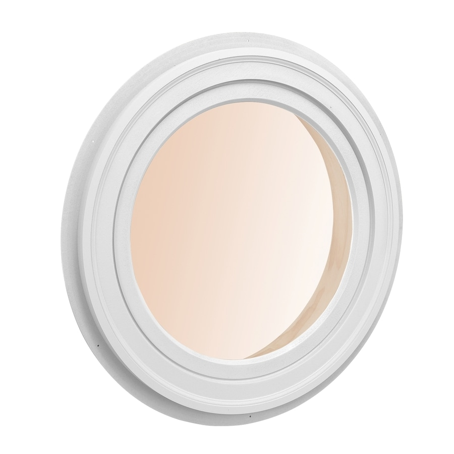 Shop awsco round replacement white exterior window rough opening 14 in x 14 in actual 16 in for Round exterior window