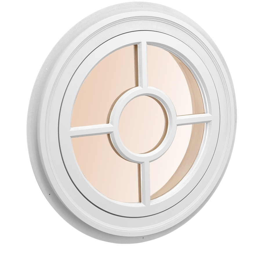Shop awsco round replacement white exterior window rough opening 26 in x 26 in actual 28 in for Round exterior window