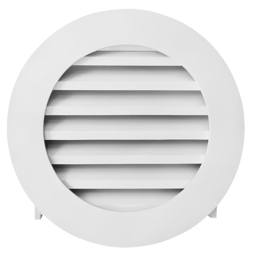 AWSCO 10.5-in x 10.5-in White Round Vinyl Gable Vent