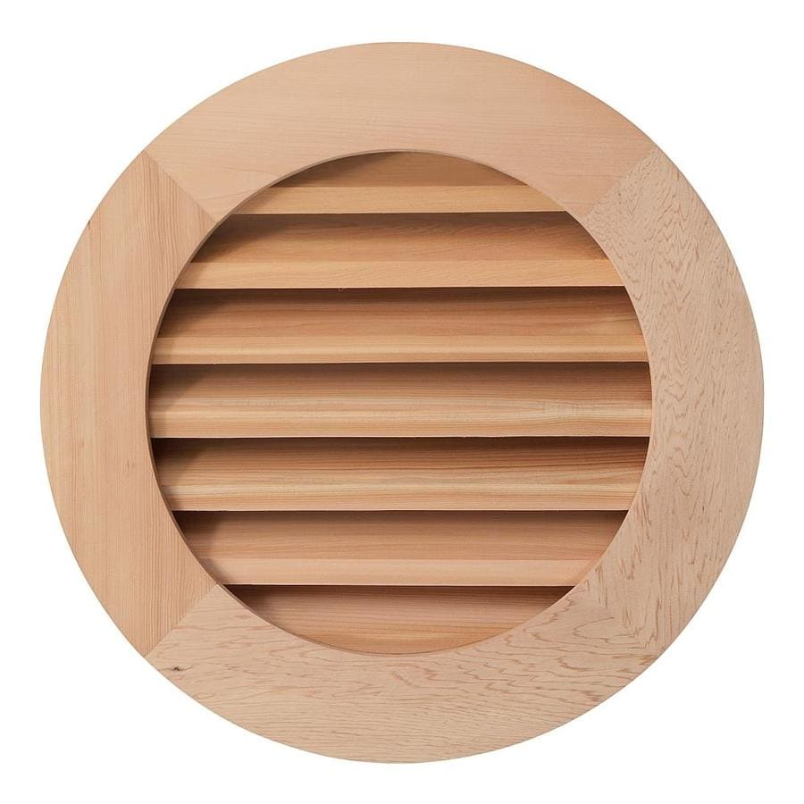 AWSCO 28-in x 28-in Raw Redwood Round Wood Gable Vent