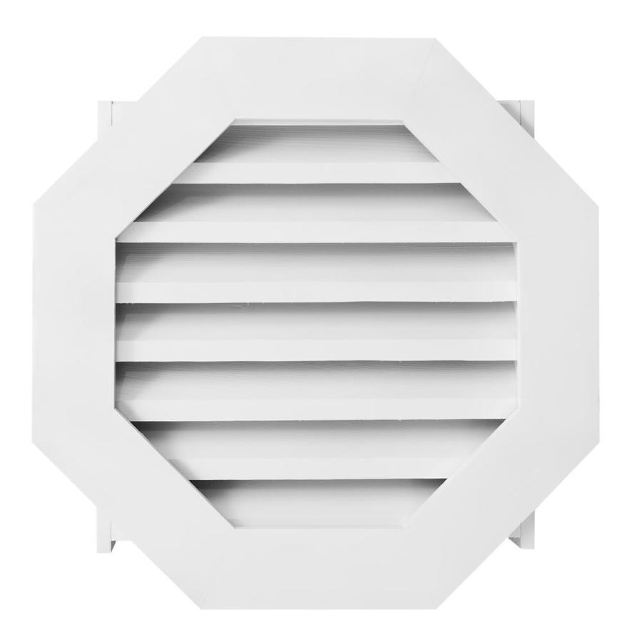 AWSCO 36-in x 36-in Vinyl White Octagon Vinyl Gable Vent