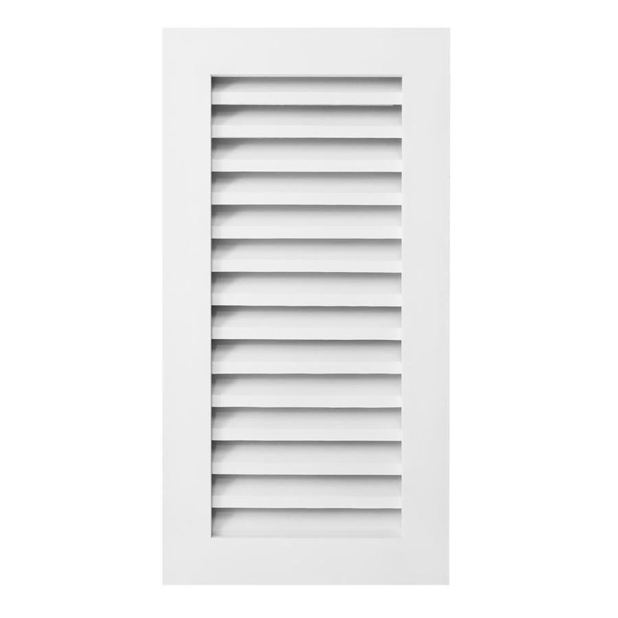 AWSCO 16-in x 36-in Vinyl White Rectangle Vinyl Gable Vent