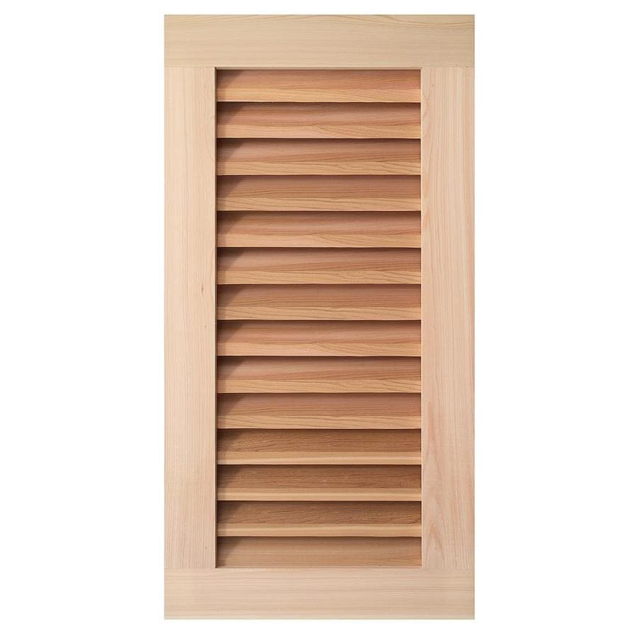 AWSCO 13.5-in x 25.5-in Raw Redwood Rectangle Gable Vent