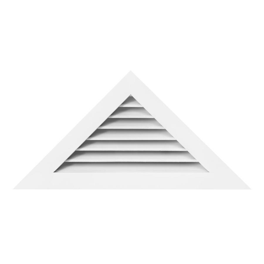 AWSCO 48-in x 24-in Vinyl White Triangle Vinyl Gable Vent