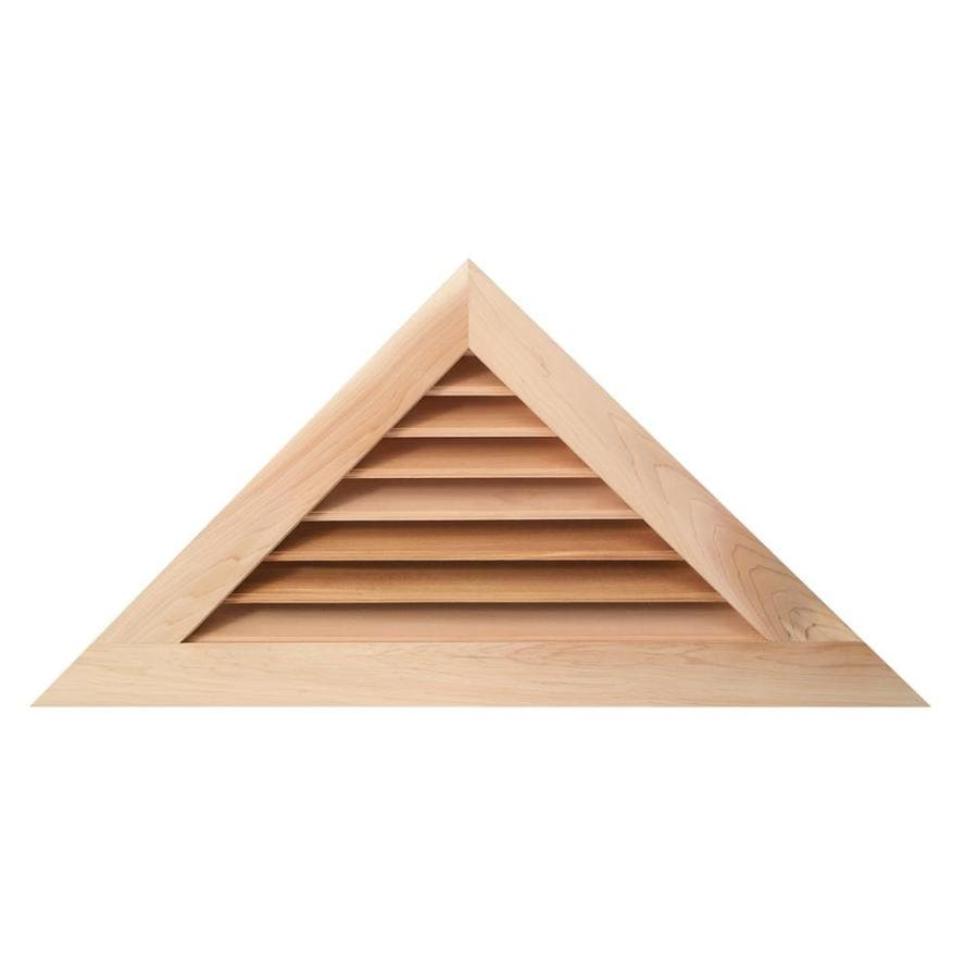 AWSCO 60-in x 25-in Raw Redwood Triangle Wood Gable Vent