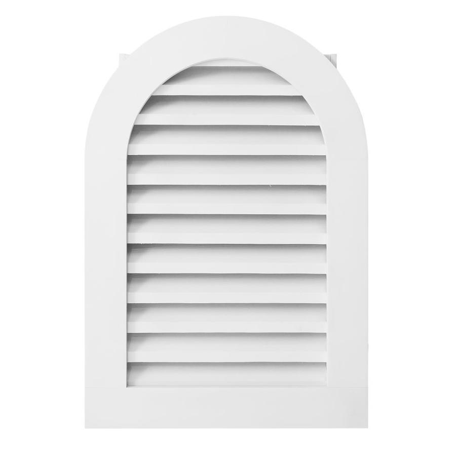 AWSCO 16-in x 28-in Vinyl White Round Top Vinyl Gable Vent