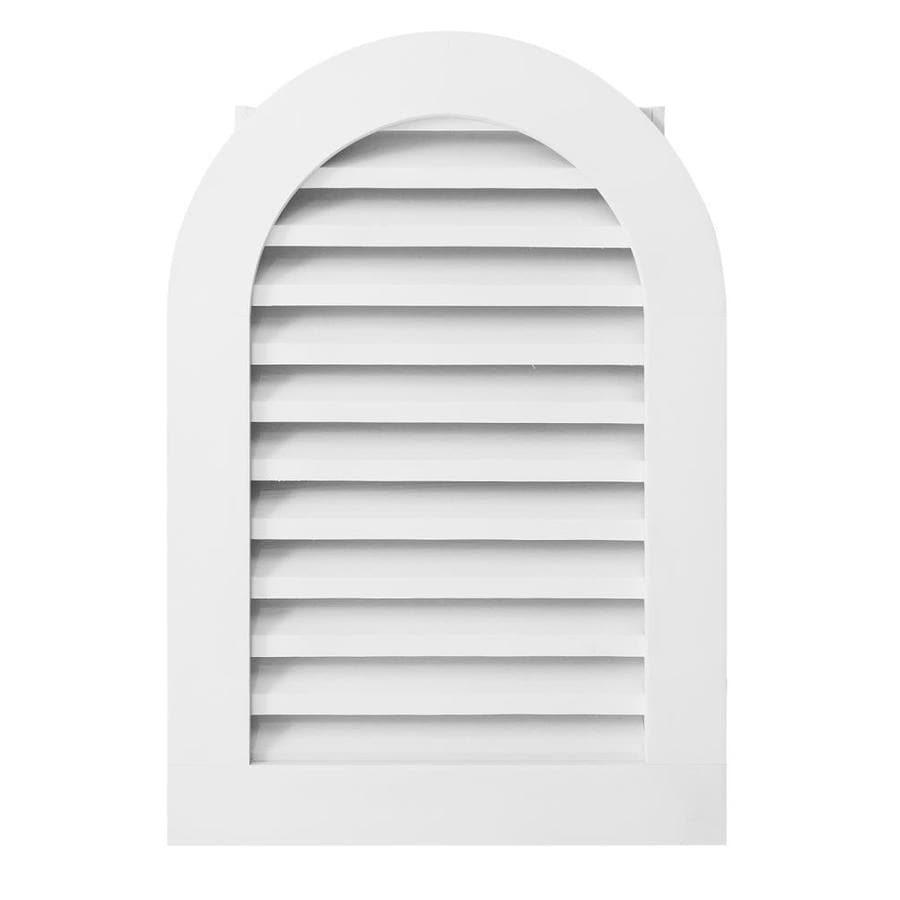 AWSCO 18-in x 36-in Vinyl White Round Top Vinyl Gable Vent