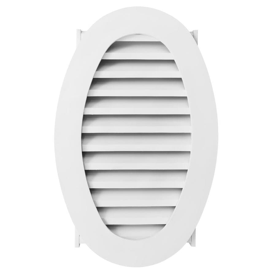 AWSCO 19.5-in x 31.5-in White Oval Vinyl Gable Vent
