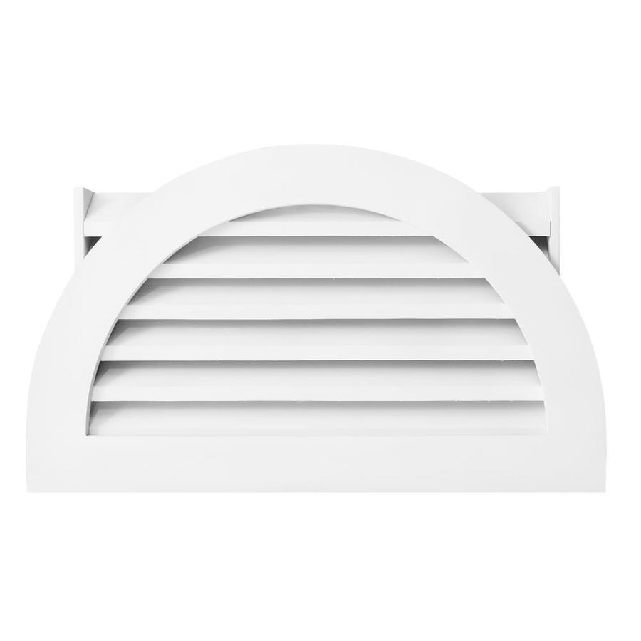 AWSCO 13.5-in x 27.5-in White Half Round Vinyl Gable Vent