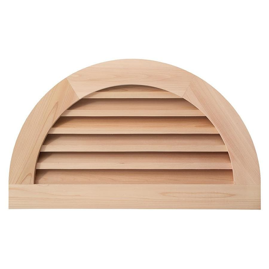 AWSCO 32-in x 18-in Raw Redwood Half Round Wood Gable Vent