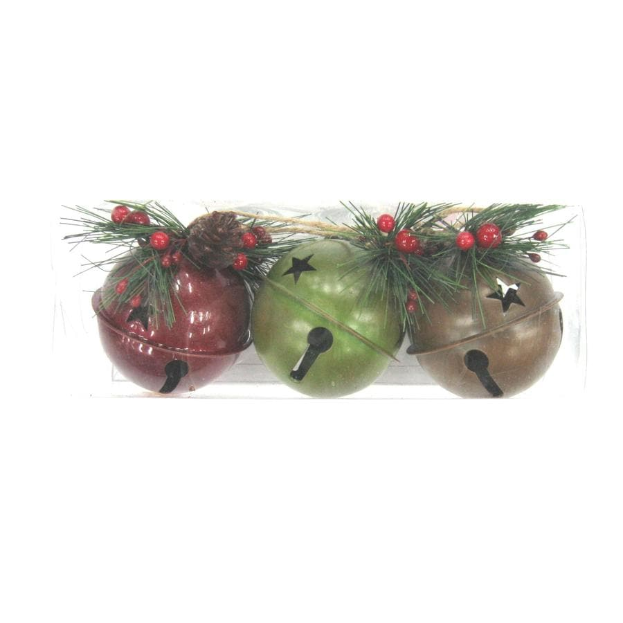 Jingle bell ornaments - Holiday Living 3 Pack Rustic Jingle Bell Ornaments