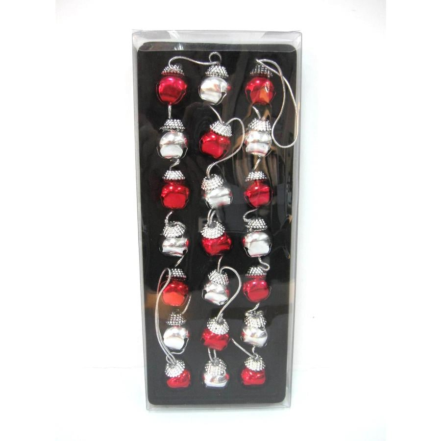 Jingle Bell Garland Shop Holiday Living 6 Red Silver Jingle Bell Garland At Lowescom