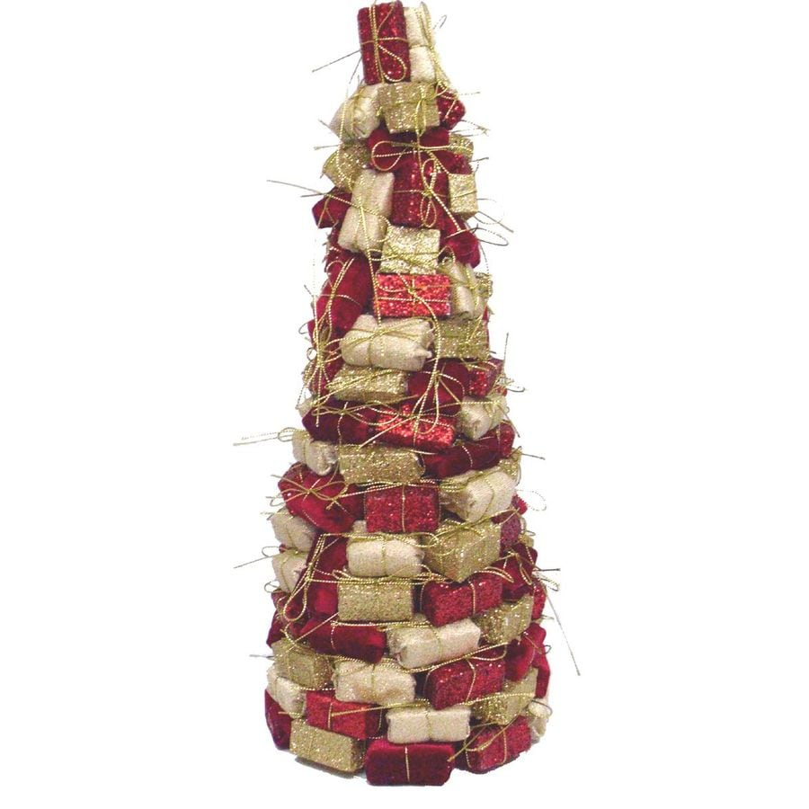 Holiday Living 16-in Foam Red/Gold Tree Tabletop Christmas Decoration